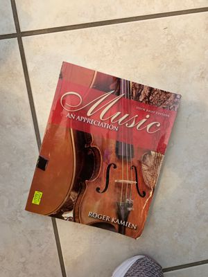 Music Appreciation by Roger Kamien textbook for Sale in Port Orange, FL