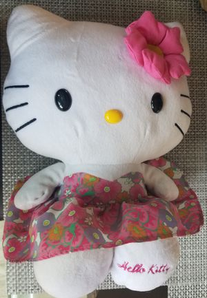 """Hello Kitty Plush Pink Flower Dress 12"""" Seated for Sale in Spring Valley, CA"""