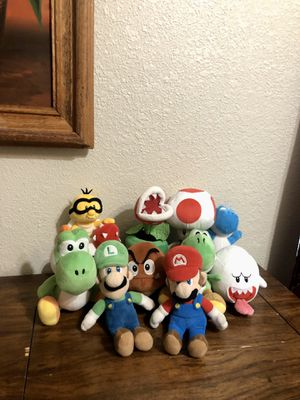 Super Mario and Friends Plushie Collection for Sale in Houston, TX