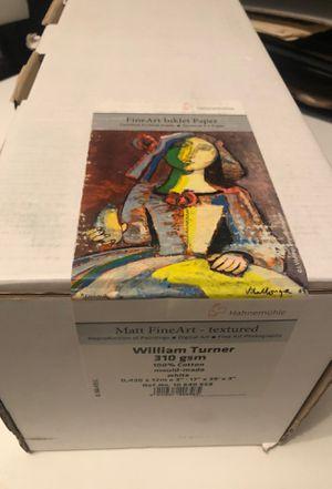 Hahnemuhle William Turner Matte, 310 g/mA 100 % Rag, Natural White Mould-made Watercolour Inkjet Paper for Sale in Hoboken, NJ