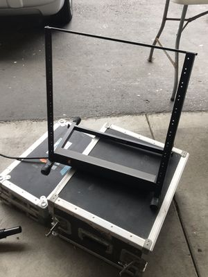Excalibur rack case + open space rack w/ power conditioner for Sale in Daly City, CA
