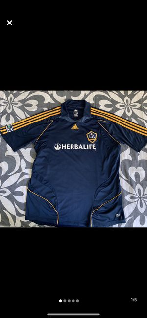 ADIDAS Los Angeles Galaxy Official Training Jersey Shirt circa 2015 Blue Navy for Sale in Los Angeles, CA