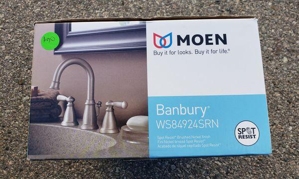 Moen Banbury Widespread Bathroom Faucet Brushed Nickel WS84924SRN