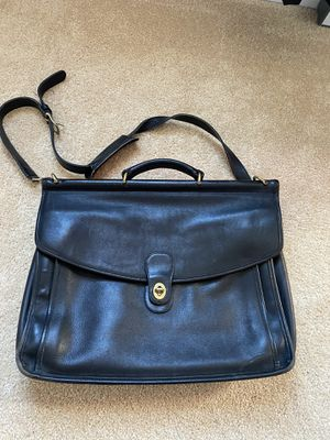 Vintage Coach leather messenger bag or briefcase large size for Sale in Vienna, VA