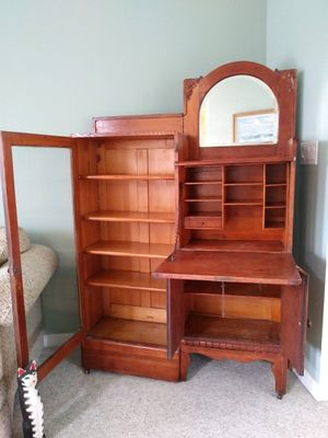 Antique Oak Curio and Secretary for Sale in Hanover, PA