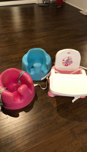 Bumbo seats and fisher price booster chair for Sale in Covina, CA