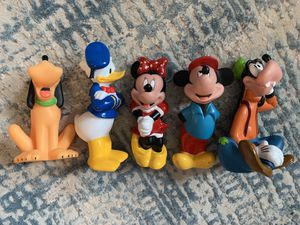 Vintage Disney Plastic Figurine Disneyana Collectible Donald Minnie Mickey Goofy 80's 90's Kids Toys for Sale in San Ramon, CA