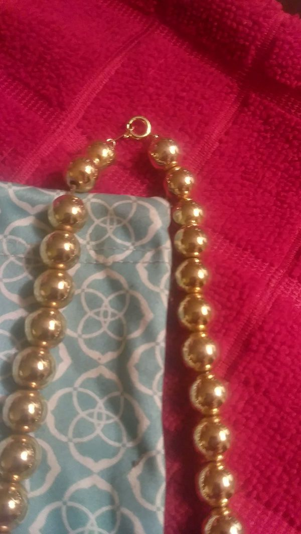 Vtg Gold Coated Hollow Beads