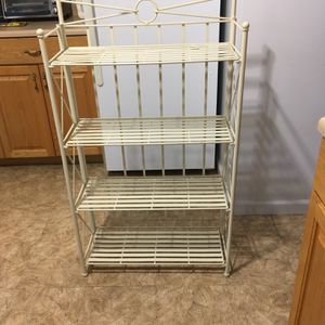 Wrought Iron Off White Bakers Rack for Sale in Syosset, NY
