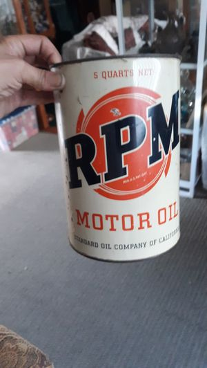 Rpm oil can for Sale in Los Alamitos, CA