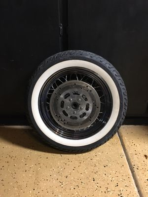 Harley Davidson Front Dual Disk Spoked Whitewall for Sale in Glendale, AZ