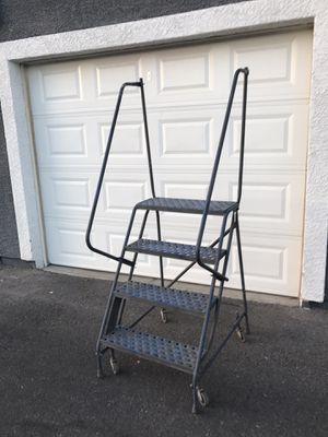 Ladder Step Rack On Wheels For Warehouse for Sale in Henderson, NV