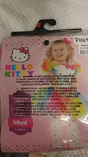 Brand new Hello Kitty Halloween costume. For infant 6-12 months for Sale in Northglenn, CO