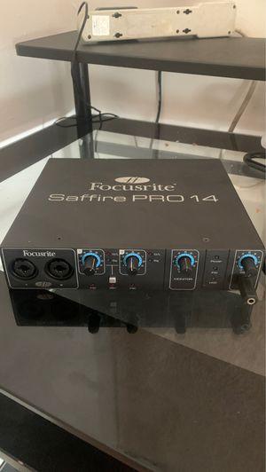 Focusrite Saffire PRO 14 audio interface for Sale in Blue Island, IL