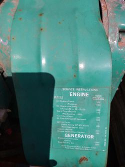 Generator from old motorhome (runs) for Sale in Portland,  OR