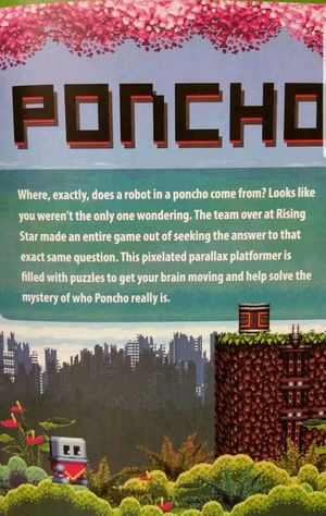 PONCHO DOWNLOAD Steam Game Code Card PUZZLE GAME  A FUN PUZZLE PLATFORM GAME FEATURING A ROBOT IN A PONCHO for Sale in Wareham, MA