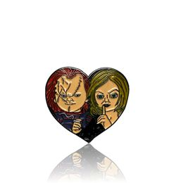 Horror Movie Classic Child's Play Chucky and Tiffany Heart Pin for Sale in Jurupa Valley,  CA