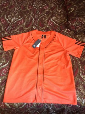 Mens Orange Adidas Baseball Jersey Tee for Sale in San Diego, CA