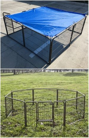 "Brand New in box 24"" Tall x 32"" Wide Panel Heavy Duty 8 Panels Dog Playpen Pet Safety Fence Adjustable Shape and Space for Sale in Whittier, CA"