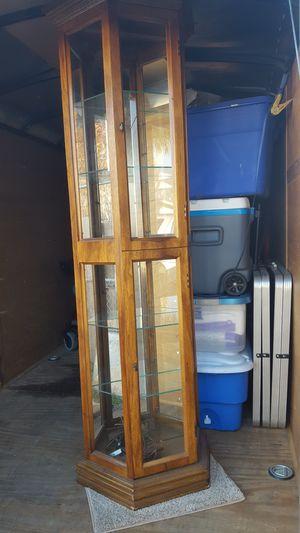 CURIO CABINET for Sale in San Bernardino, CA