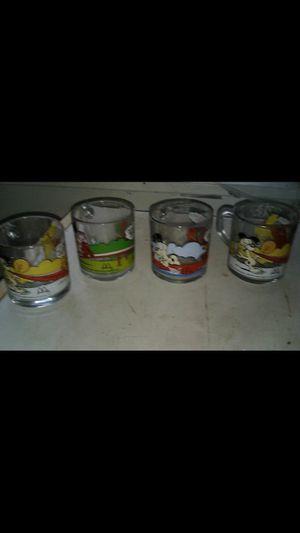 Vintage mcdonalds garfield glass mugs for Sale in Belleville, IL
