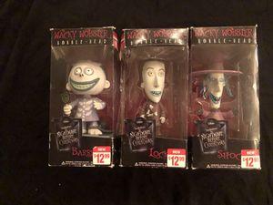 Nightmare before Christmas lock, shock, barrel bobble head for Sale in Fresno, CA