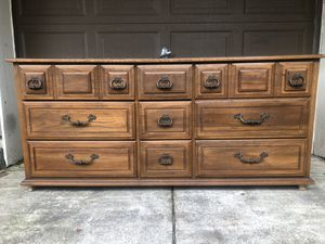 Nine Drawer Solid Buffet / Dresser for Sale in Clackamas, OR