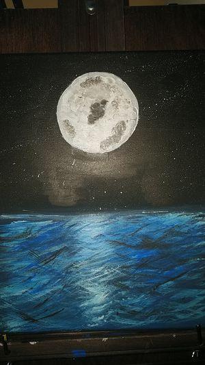 Nighttime acrylic painting for Sale in Helotes, TX
