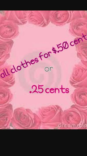 Clothes either $.50 cents or $.25 for Sale in Houston, TX
