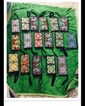 New embroidered wallet each for 8 for Sale in South River, NJ