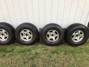 Set of tires and rims Chevy Silverado 1500 for Sale in Laie, HI