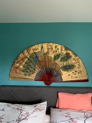 Large asian/oriental fan, wall decor for Sale in Carol Stream, IL