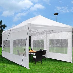 New in box $210 Heavy-Duty 10x20 Ft Outdoor Ez Pop Up Party Tent Patio Canopy w/Bag & 6 Sidewalls, White for Sale in El Monte, CA