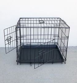 "New in box $25 Folding 24"" Dog Cage 2-Door Folding Pet Crate Kennel w/ Tray 24""x17""x19"" for Sale in El Monte,  CA"