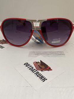 Unisex Red Plastic Aviator Sunglasses for Sale in Montgomery,  NJ