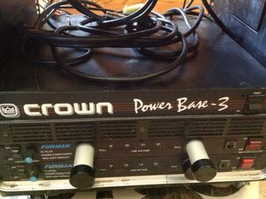 Crown Power Base 3 power Amplifer for Band / Dj made in the USA. Call or text 4O8 499 97OI to purchase for Sale in Litchfield Park, AZ