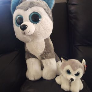large beanie boos TY husky plush 10. Or Sm 6. for Sale in Glendale, AZ