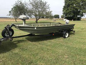 16' Polar Craft flat bottom John boat w/ 25hp Johnson electric start for Sale in Manito, IL