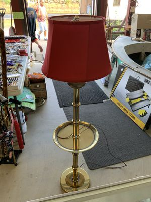 Brass floor lamp for Sale in Rehoboth, MA