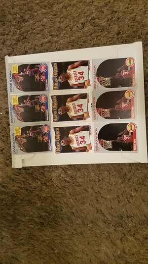 NBA Hoops 1990 -1991 Dennis Rodman and Hakeem Olajuwon sports cards 9 total! for Sale in Amarillo, TX