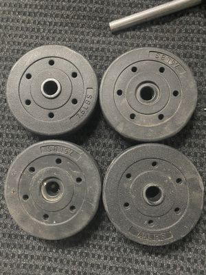 Weight plates for standard one inch bar for Sale in Oakland, CA