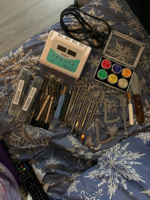 Digital Wax Carver Machine with 2 wax curving pencils plus 25 pieces of dentist tools for Sale in Fullerton, CA