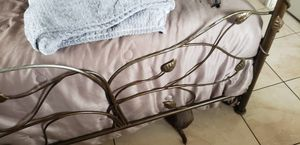 Wrought iron queen size bed. Made inMexico paid $2500 owned 6 months comes with matress, boxspring in great shape willing to sell it it for $550 for Sale in Tampa, FL