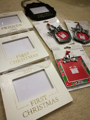 Photo Frame Holiday Ornaments Lot for Sale in Sunnyvale, CA