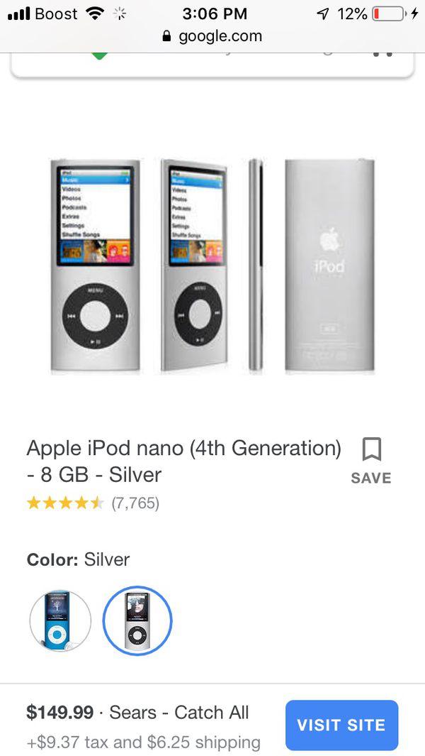 iPod music download 8gb