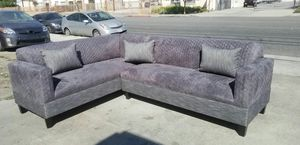 NEW 7X9FT QUILTED CHARCOAL MICROFIBER COMBO SECTIONAL COUCHES for Sale in Las Vegas, NV