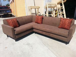 NEW 7X9FT ANNAPOLIS MOCHA FABRIC SECTIONAL COUCHES for Sale in Fontana, CA