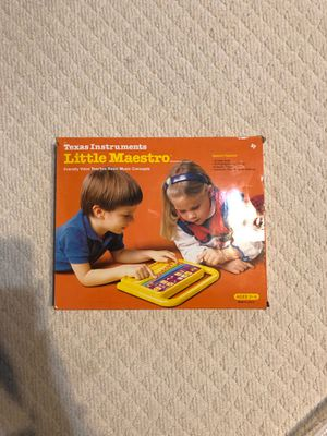 Texas Instruments Little Maestro Kid Music Educational Electronic Game for Sale in Marietta, GA