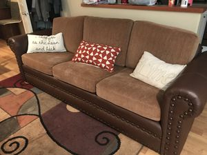 Leather couch for Sale in Bend, OR