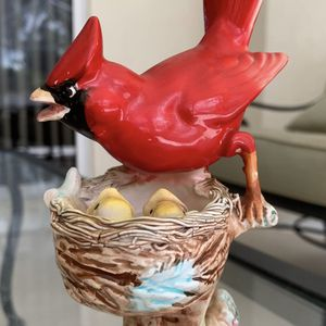"Vintage porcelain red cardinal bird statue, approx 5"" x 3.5"", in great condition for Sale in Hobe Sound, FL"